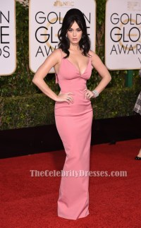 Katy Perry Pink Evening Gown Golden Globes Red Carpet ...