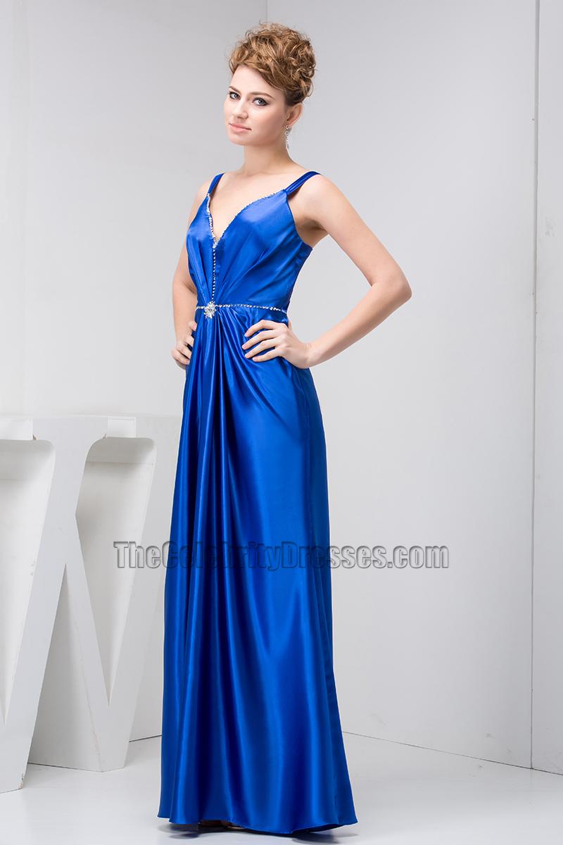 Royal Blue Floor Length Evening Dress Prom Gown