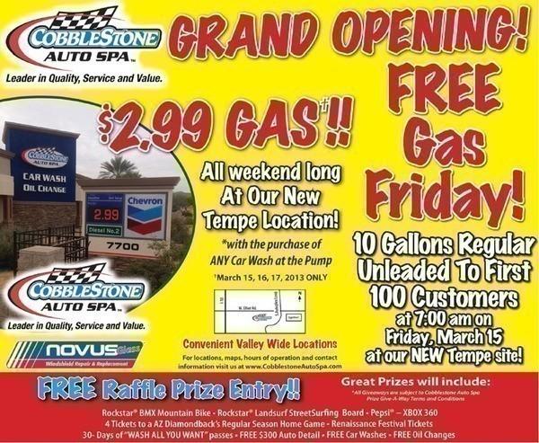 Tempe cobblestone auto spa grand opening free gas friday and many cb solutioingenieria Choice Image