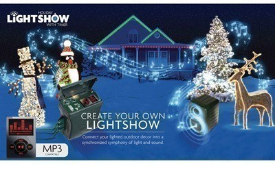 Still going musical holiday lightshow outdoor timer with speaker 19496adslowres aloadofball Choice Image