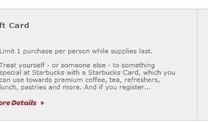 Huggies Reward Members: $5 Starbucks Gift Card just 250 Points