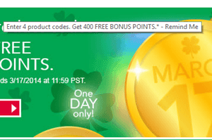 Kellogg's Family Rewards:  Score 400 FREE Bonus Points (Extended through 3/21)