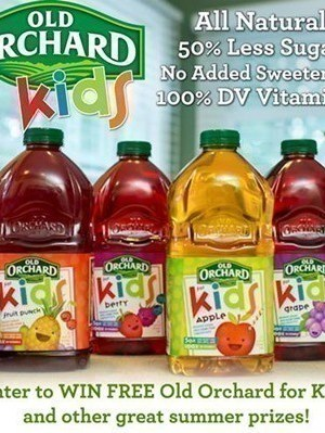 Old Orchard for Kids Giveaway | Enter to Win a FREE Bottle (Valued at $3.49)