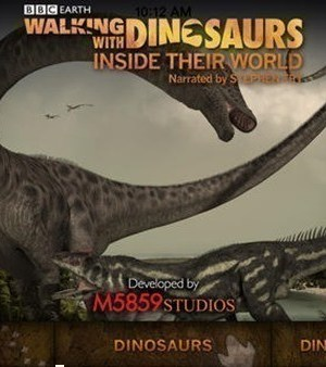 FREE BBC Earth Waking with Dinosaurs App on iOS ($5 Value)