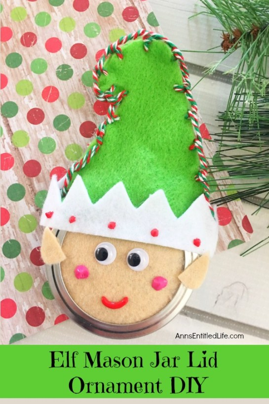 Elf Mason Jar Lid Ornament - Ann's Entitled Life
