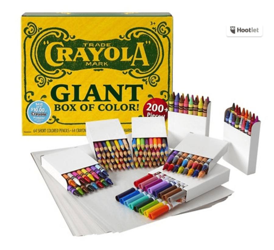 target crayola 200 piece vintage giant box of color just 7 20