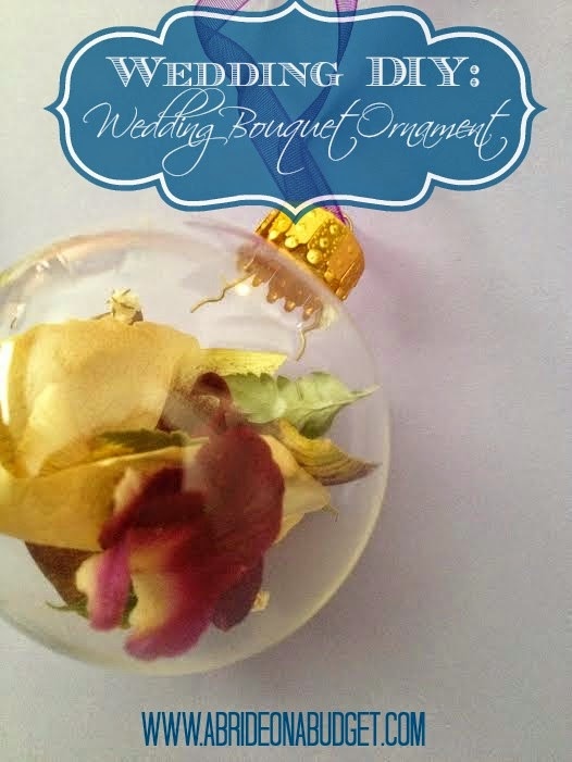 DIY Wedding Bouquet Ornament - A Bride On A Budget