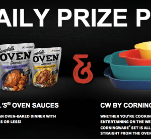 Campbell's Warm Up Winter Sweeps | Enter Daily CorningWare Prize Pack