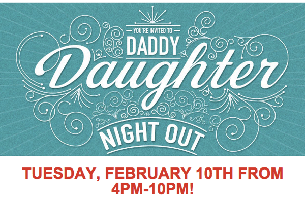 Chilis Restaurant Daddy Daughter Date Night