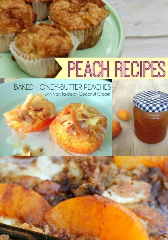 Fresh Peach Recipes ~ TheCentsAbleShoppin.com