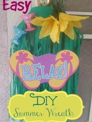 Easy DIY Dollar Tree Summer Wreath Idea