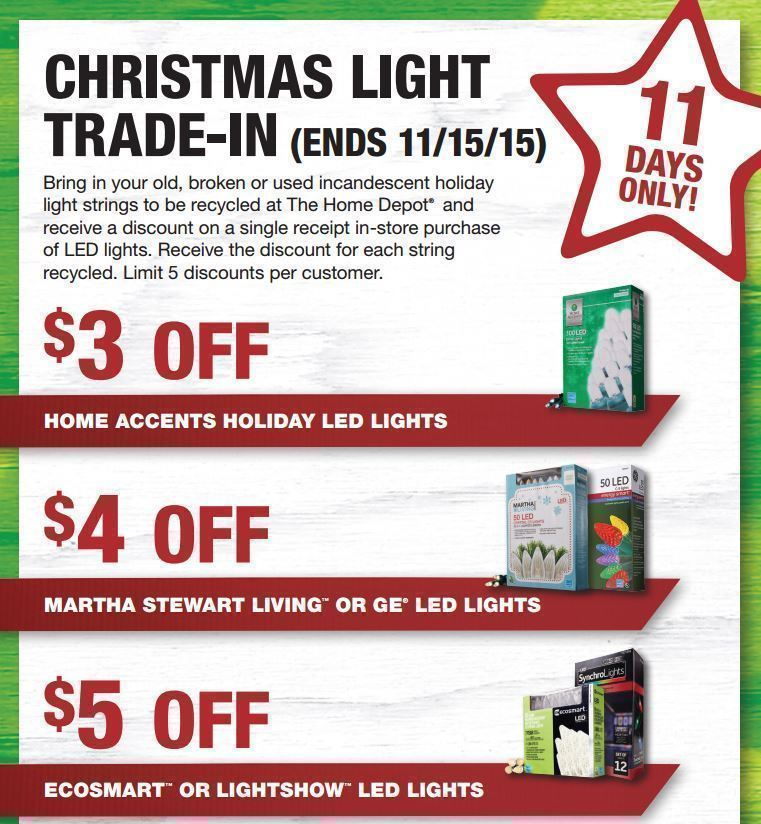 home depot christmas tree light trade in 2015