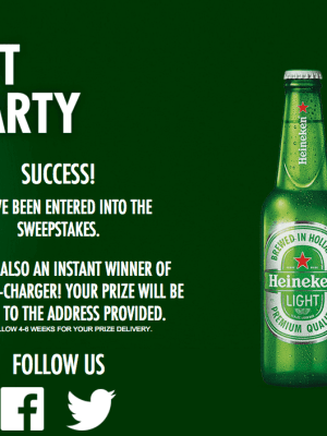 Heineken Plot your Party Instant Win Game (Select States ONLY)