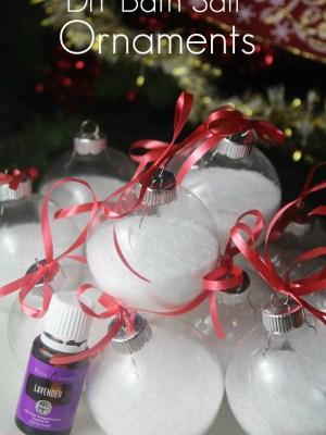 DIY Bath Salt Ornaments {with Essential Oils}