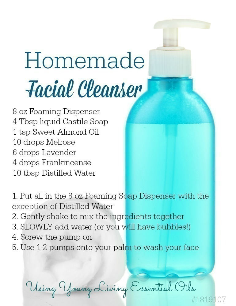 Homemade Facial Cleanser With Essential Oils
