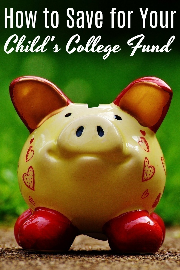 The cost of college is astronomical - and it's not getting any cheaper! Here are 5 ways to save for your child's college fund. #saving #college #budget #money