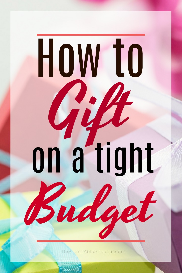 Giving gifts to friends and family at the holidays and through the year doesn't have to be a strain on your budget. Here are some tips to help you give on a tight budget. #budget #finance #gift #holidays