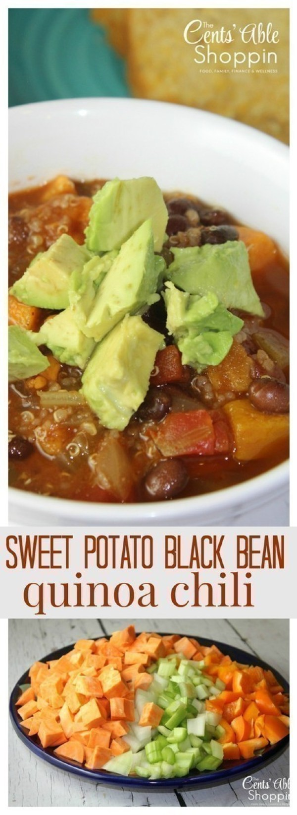 Sweet Potato Black Bean Quinoa Chili