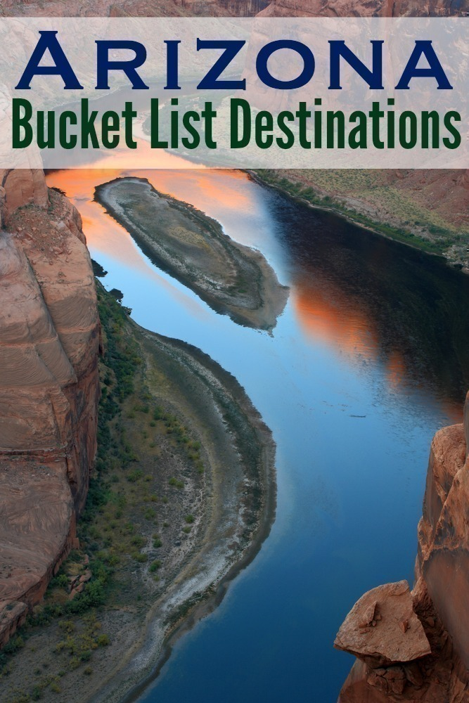 If you love taking day trips, Arizona is a wonderful place to see new sights - we have the most amazing historical monuments, hikes, geological formations and more.  Here are 5 wonderful bucket list ideas to explore in Arizona. #Travel | #Arizona