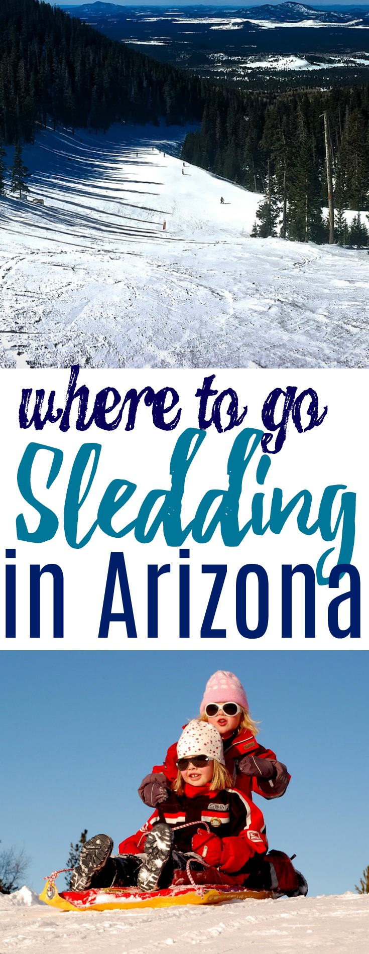Arizona winters can be a huge relief after a long summer of hot temps. Here are some of the best places to go sledding in Arizona with the family!