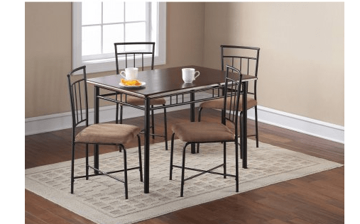 walmart 5 pc dining table set with chairs 109 the centsable shoppin. Black Bedroom Furniture Sets. Home Design Ideas