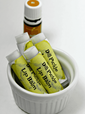 Easy 3-Ingredient Dill Pickle Lip Balm