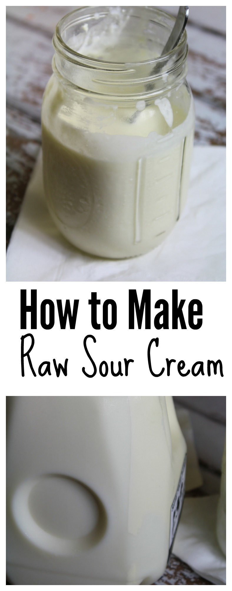 Making your own raw sour cream is incredibly easy - here are two methods!