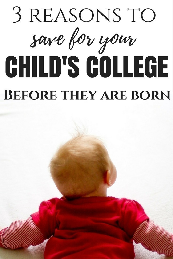 Over 43 million Americans owe 1.3 Trillion in student loans - avoid being part of that statistic! Here are 3 Reasons to Save for your Child's College Before they are Born.