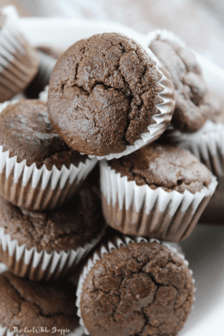 These paleo chocolate zucchini muffins make the perfect healthy snack for people of all ages!  They are grain-free, and the perfect way to use up an abundance of zucchini!