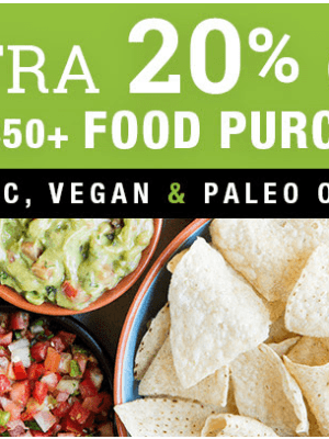 Vitacost: 20% OFF your $50 Food Purchase (Gluten-Free, Organic, Vegan + More)