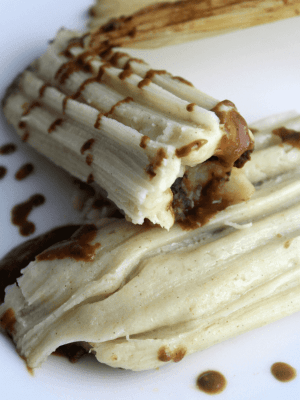 Meatless Potato and Mole Tamales