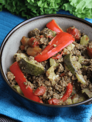 Mexican Beef and Zucchini Skillet (Instant Pot or Stovetop)