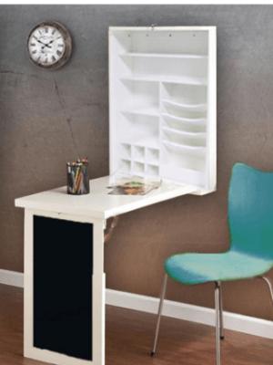 Home Depot: Fold-Down White Floating Hanging Desk $119