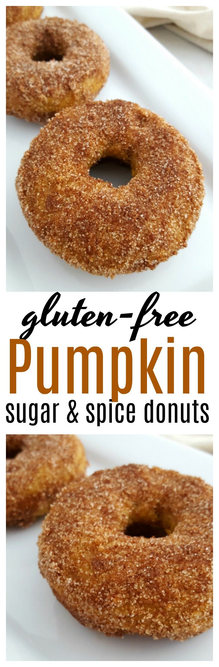These Gluten-Free Pumpkin Sugar and Spice donuts are the perfect treat to enjoy this fall - and so easy to make at home!