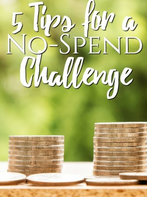 5 Tips for a No Spend Challenge