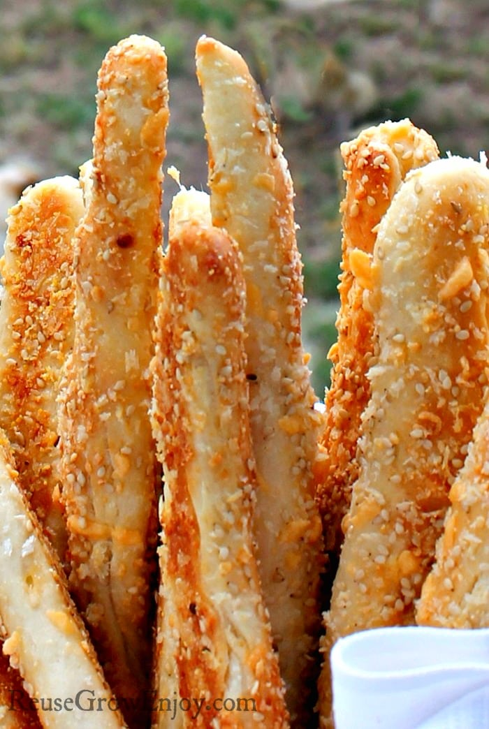 Cheesy Garlic Breadsticks - Reuse, Grow, Enjoy