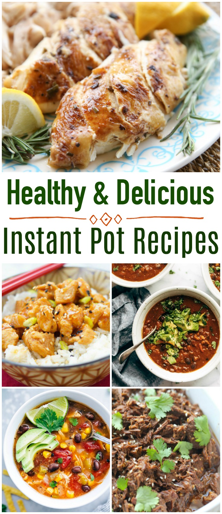 Did you recently buy an Instant Pot? it's a wonderful appliance to help you save money and eat better. Here are 20 Healthy and Delicious Instant Pot recipes you will want to keep handy! #InstantPot #PressureCooker #healthyrecipes #easyrecipes