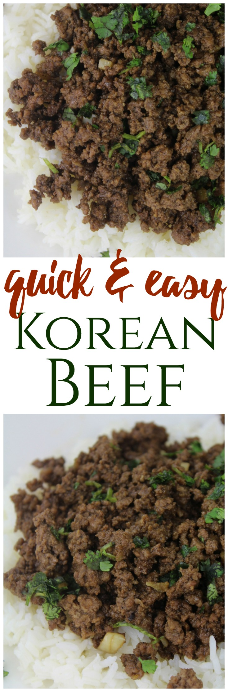 An easy Korean Beef recipe with simple ingredients that can be ready in just minutes! #easydinner #weeknight #beef