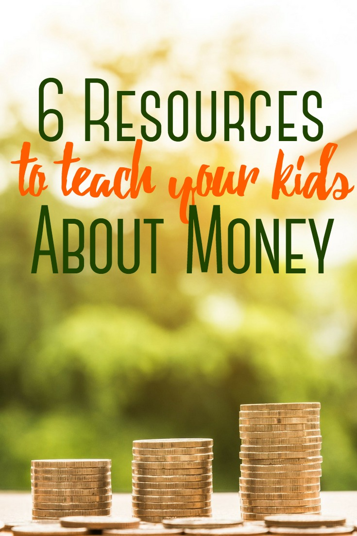 Kids are never too young to start learning about how money works. Here are 6 resources that will help you teach your kids about money. #money #kids #finances #teachingkids #budget #savingmoney