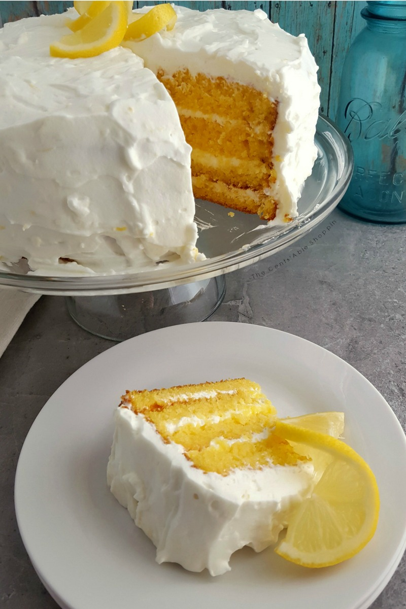 This Gluten Free Lemon Dream Layer Cake is a light and delicious cake to serve at your next get together or celebration!