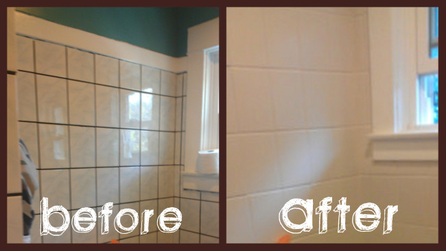 Painting Bathroom Tile Board $500 bathroom makeover in 3 days
