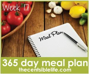 Gluten free Meal Plan-week 17