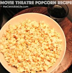 Homemade Movie Theatre Popcorn