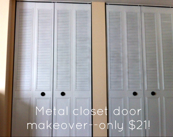 how to spray paint closet door