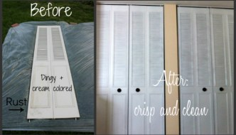 How To Spray Paint Closet Doors