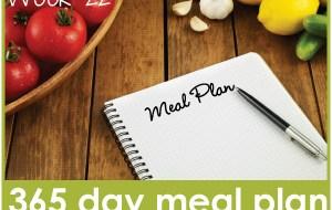 365 Day Meal Plan: Week 22