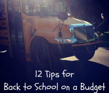 12 Back to School Budget Tips