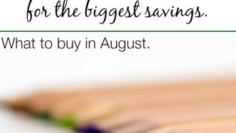 What To Buy In August