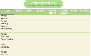 365 Day Meal Plan: Year-End Recap with 2013 Templates