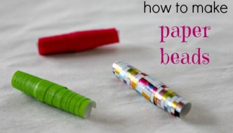 how to recycle wrapping paper / gift wrap into pretty beads